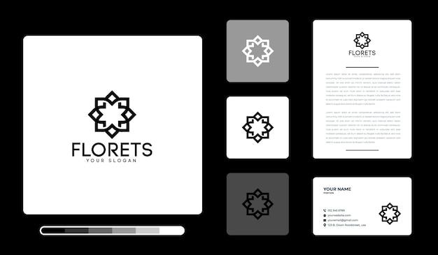 Modello di progettazione di logo di fiorellini