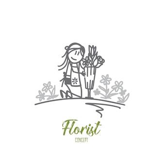 Illustrazione di concetto di fiorista