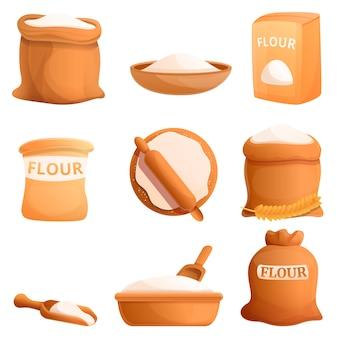 Set di icone di farina