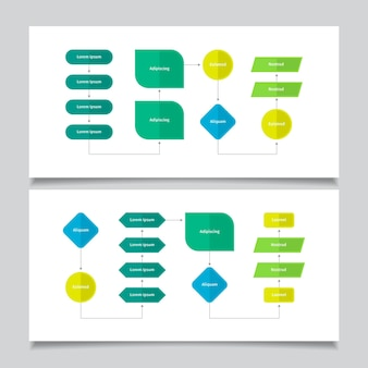 Diagramma di flusso infografica