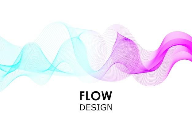 Progettazione di forme di flusso. sfondo di onde liquide. forma astratta di flusso 3d.