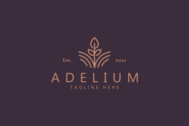 Fiore simbolo astratto di bellezza. identità del marchio con logo premium femminile. naturale, giardino, spa, gioielli, prodotto di moda e modello di business.