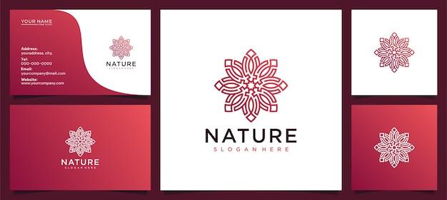 Flower beauty logo design ispirazione per il salone