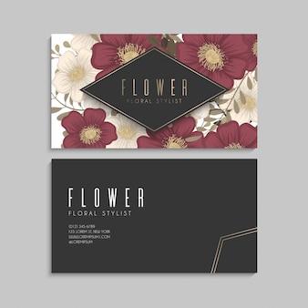 Biglietti da visita fiore fiori rossi
