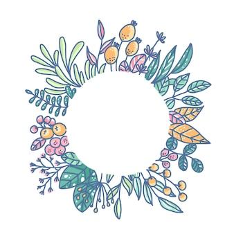 Illustrazione del disegno del ciclo del fiore.