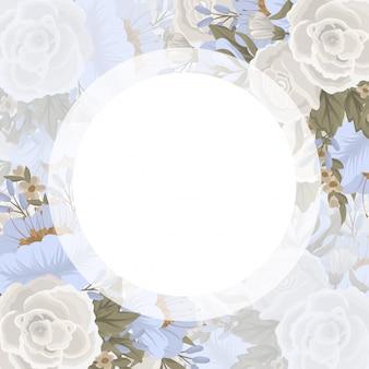 Bordo di disegni floreali - fiori blu chiaro