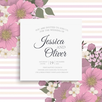 Bordo di disegni di fiori - fiori rosa