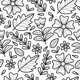 Fiore doodle seamless pattern