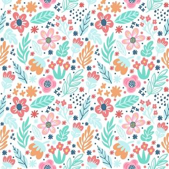 Reticolo senza giunte di doodle del fiore