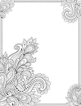 Cornice floreale nella tradizione popolare.