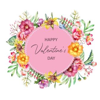 Cornice floreale per san valentino