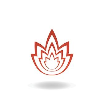 Icona del fiore. loto. progettazione del logo della stazione termale. illustrazione vettoriale