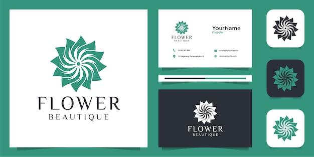 Logo del fiore e biglietto da visita
