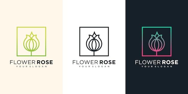Illustrazione di progettazione di logo del fiore