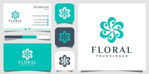 I loghi di design del logo floreale possono essere utilizzati per la boutique della decorazione del salone di bellezza della spa