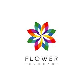 Modello di progettazione del logo del fiore