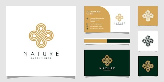 Design del logo floreale con stile line art. i loghi possono essere utilizzati per spa, salone di bellezza, decorazione, boutique. e biglietto da visita