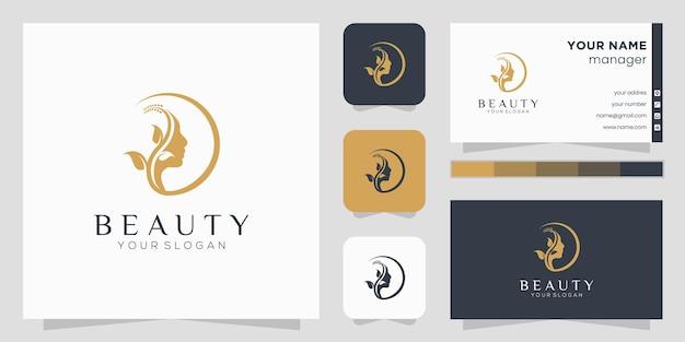 Design del logo del fiore con stile art line. i loghi possono essere utilizzati per spa, salone di bellezza, decorazione, boutique.