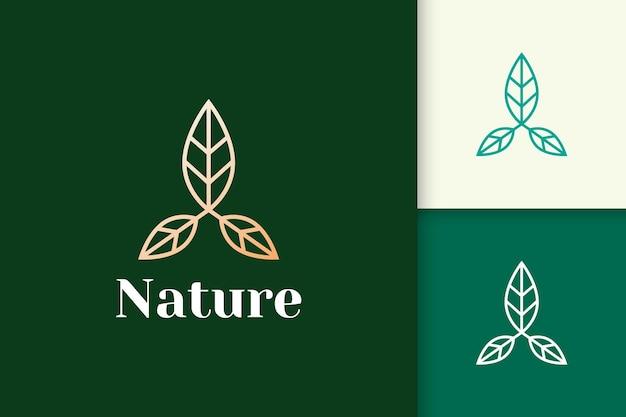 Logo floreale a forma di linea femminile e di lusso per la salute e la bellezza
