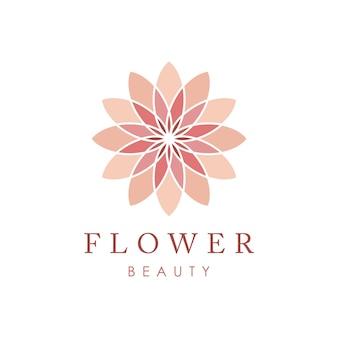 Modello di fiore icona logo vettoriale
