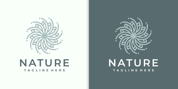 Logo del fiore moderno