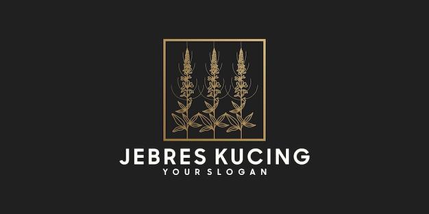 Logo floreale con stile line art