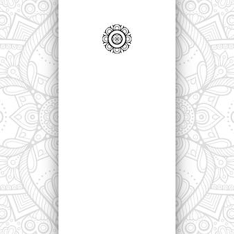 Mandala fiore. sfondo semplice mandala con copia spazio.