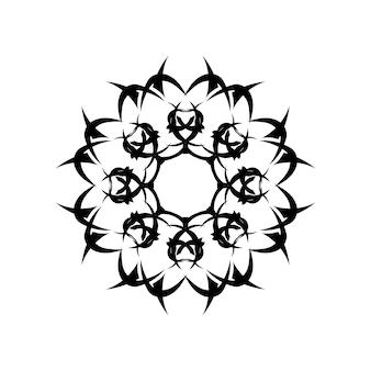 Mandala di fiori. elementi decorativi d'epoca. modello orientale, illustrazione vettoriale. motivi islamici, arabi, indiani, marocchini, cinesi, mistici, ottomani. pagina del libro da colorare