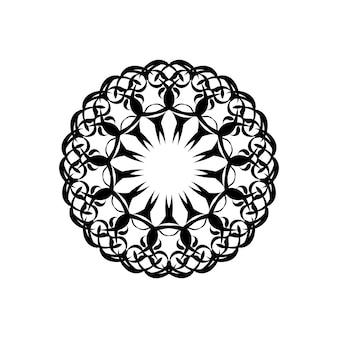 Mandala di fiori. elementi decorativi d'epoca. modello orientale, illustrazione vettoriale. islam, arabo, indiano, marocchino, spagna, turco, pakistan, cinese, mistico, motivi ottomani. pagina del libro da colorare