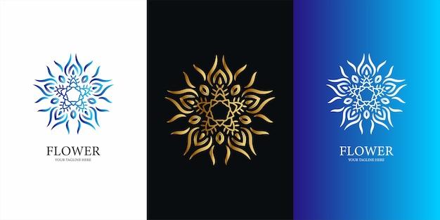 Disegno del modello logo fiore, ornamento o mandala.