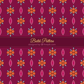 Modello di fiori in stile batik