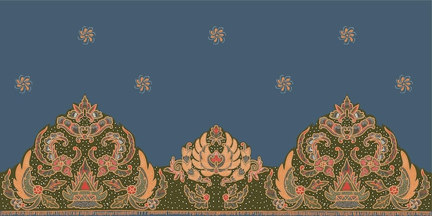 Motivo floreale motivo etnico geometrico design tradizionale