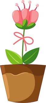 Fiorisca nell'illustrazione del vaso