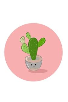La dipendenza del vaso di fiori sorrise