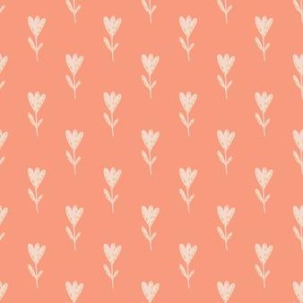 Reticolo senza giunte del fiore su sfondo rosa.