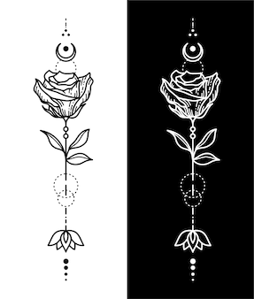 Disegno del tatuaggio del fiore