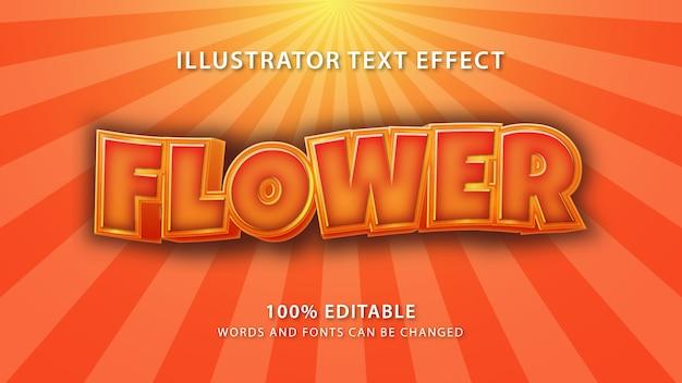 Effetto stile testo fiore, testo modificabile