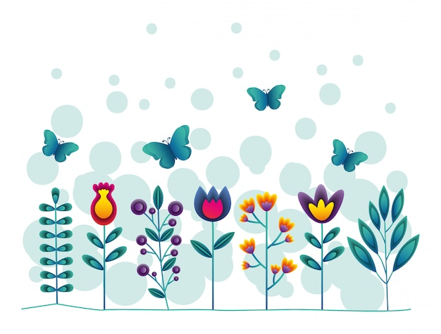 Fiori e farfalle
