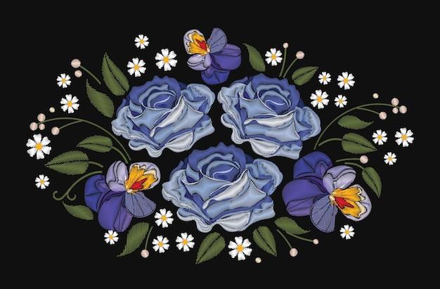 Fiori rose e viole del pensiero
