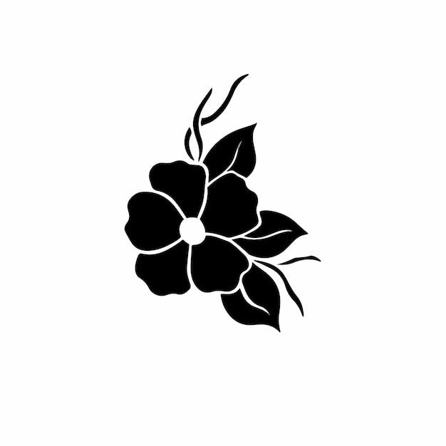 Fiori simbolo logo tatuaggio design stencil illustrazione vettoriale