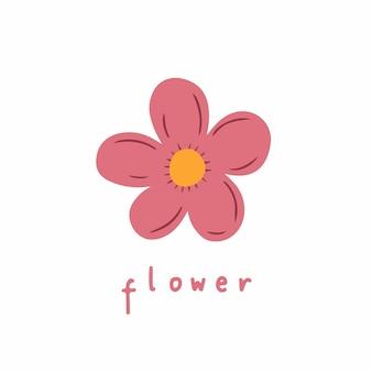 Fiori simbolo social media post floral vector illustration