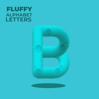 Alfabeto inglese sfumato soffice lettera b
