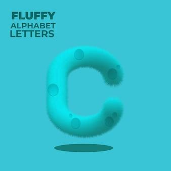 Alfabeto inglese sfumato soffice lettera c