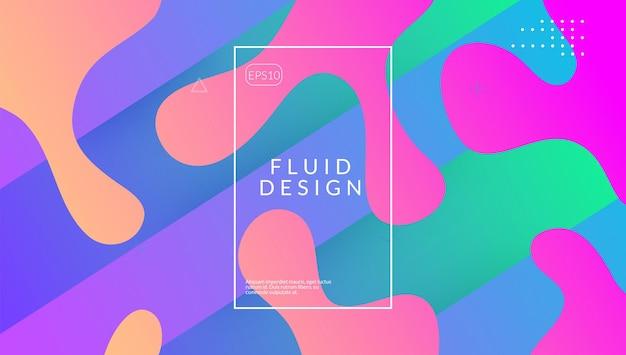 Sfondo fluido. schermo geometrico. pagina di destinazione 3d. cornice di menfi. volantino arcobaleno. composizione creativa. layout dinamico ondulato. forma di plastica viola. sfondo fluido lilla