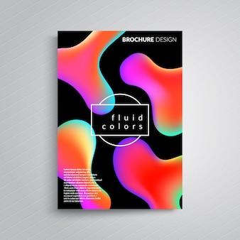 Disegno del manifesto di colori fluidi. modello.