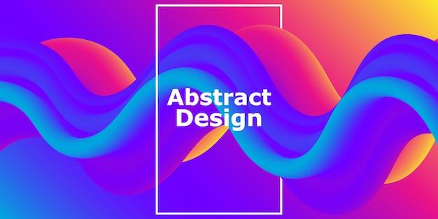 Forma fluida. flusso astratto. gradiente futuristico colorato. sfondo geometrico.