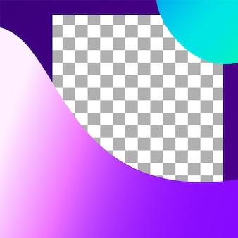 Post di forme fluide. modello astratto dell'alberino della struttura della foto. forma geometrica vettoriale in post web, elementi di flusso per il marketing nell'illustrazione sociale
