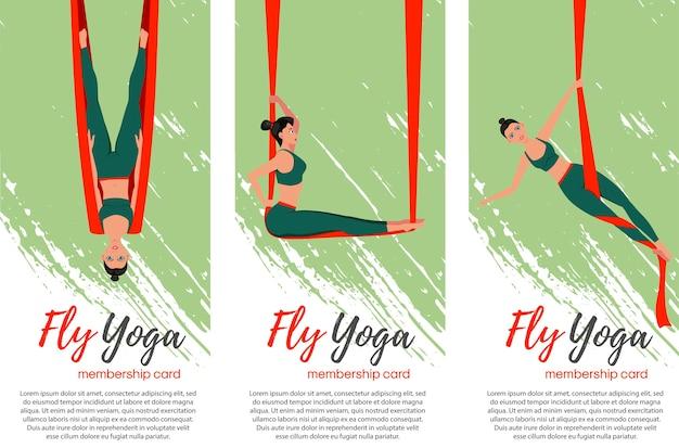 Fly yoga concetto illustrazione
