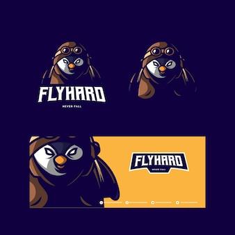 Logo della mascotte di flybird esport