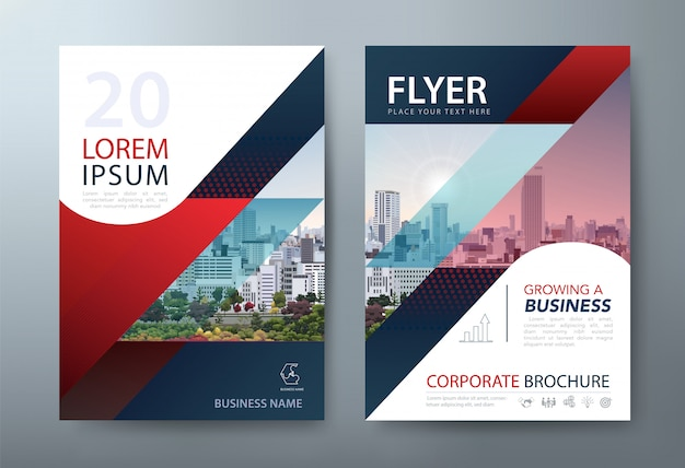Flyer, modelli di copertine di libri, layout in formato a4.